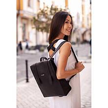 Жіночий шкіряний чорний рюкзак Blackwood