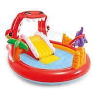 Водний Ігровий центр Intex 57163 Веселий Динозавр 296*170*107 СМ