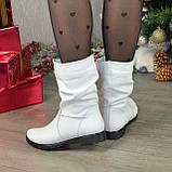 """Демисезонные женские ботинки из натуральной кожи белого цвета ТМ """"Maestro"""", фото 2"""