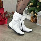 """Демисезонные женские ботинки из натуральной кожи белого цвета ТМ """"Maestro"""", фото 3"""