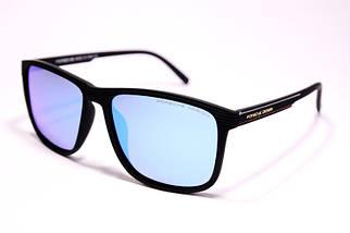 Мужские солнцезащитные очки Порше P1048 C5 реплика Черные с поляризацией