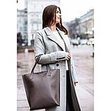 Кожаная женская сумка шоппер D.D. темно-бежевая, фото 7