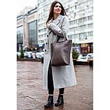 Кожаная женская сумка шоппер D.D. темно-бежевая, фото 9