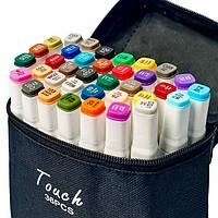 Набор скетч маркеров для рисования Touch Sketch 36 шт двусторонние фломастеры белый корпус