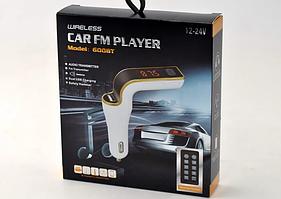 Автомобильный FM-трансмиттер 600BT  с Bluetooth, FM-модулятор сBluetooth