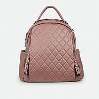 Удобный сумка-рюкзак женский кожаный розовый 77258