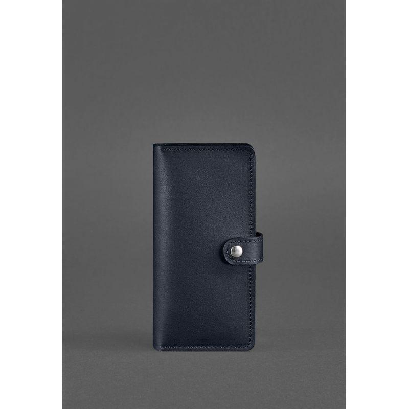 Шкіряне портмоне 7.0 темно-синє