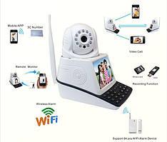Видеокамера с экраном NET CAMERA запись на TF карту / сигнализация с датчиком движения / ИК подсветка