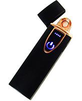 Зажигалка электрическая спиральная USB ZGP 7, Сенсорная USB зажигалка