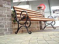Скамейка кованая 1м 50 см ольха (Бараш)