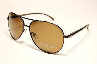 Мужские солнцезащитные очки авиаторы Порше P18609 C2 реплика Коричневые с поляризацией