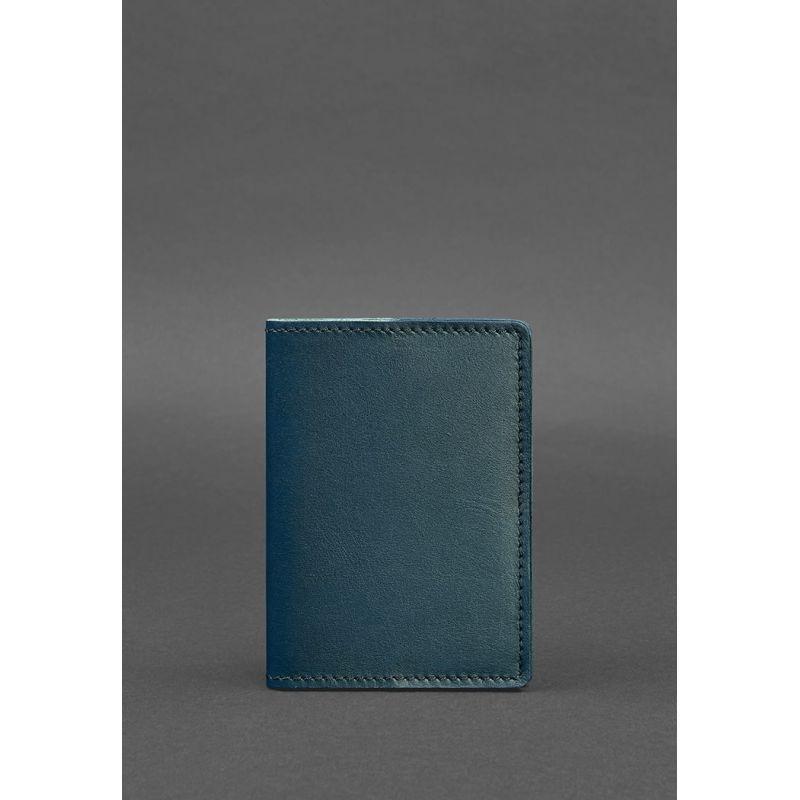 Кожаная обложка для паспорта 1.3 зеленая