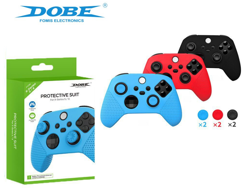 Силіконовий чохол DOBE + накладки для геймпада Xbox Series S | X
