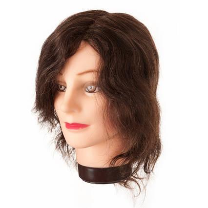 Манекен-голова Eurostil натуральные короткие волосы 20-30 см