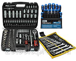 Набор инструментов 108 ед. 1/2,1/4 Profline 61085 + набор ключей 12 ед. Сталь + проф. отвертки 18 шт. Profline