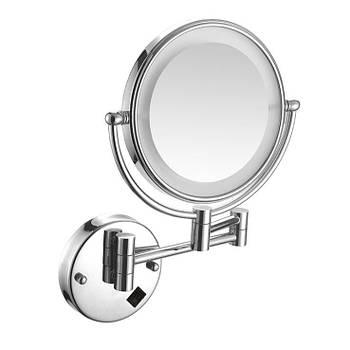 Косметологическое двухстороннее  зеркало с LED подсветкой и увеличением Fly Light (3500.21)  DMA