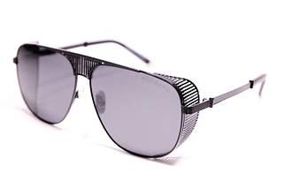 Мужские солнцезащитные очки авиаторы Порше P31402 C1 реплика Черные с поляризацией