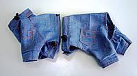 Костюм для собачки из джинса с шортами или юбкой