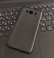 Чехол силиконовый глянцевый для Samsung J7, 0.5mm, Черный