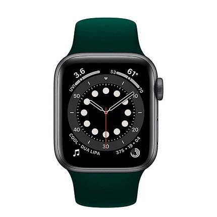 Ремінець силіконовий Sport Band 38mm | 40mm Forest Green  для Apple Watch SE | 6 | 5 | 4 | 3 | 2 | 1, фото 2