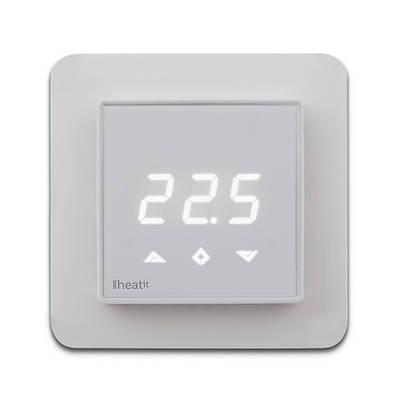 Термостат теплого пола со счетчиком электроэнергии Heatit Z-TRM3 белый