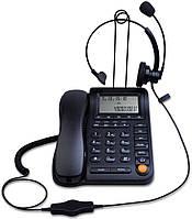 Проводной телефон IP с идентификацией вызывающего абонента и монофонической гарнитурой шумоподавление KerLiTar