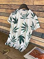 Літня футболка чоловіча з модним принтом, чоловіча футболка з принтом, фото 1