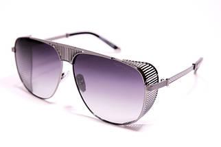 Мужские солнцезащитные очки авиаторы Порше P31402 C2 реплика Черные с поляризацией
