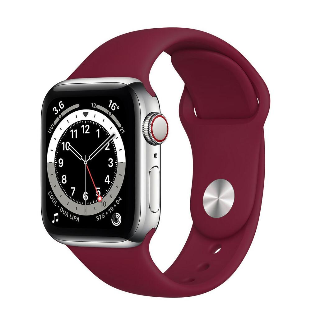 Ремінець силіконовий Sport Band 38mm | 40mm Marsala  для Apple Watch SE | 6 | 5 | 4 | 3 | 2 | 1