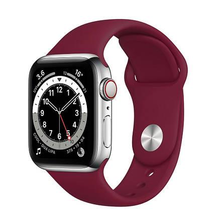 Ремінець силіконовий Sport Band 38mm | 40mm Marsala  для Apple Watch SE | 6 | 5 | 4 | 3 | 2 | 1, фото 2