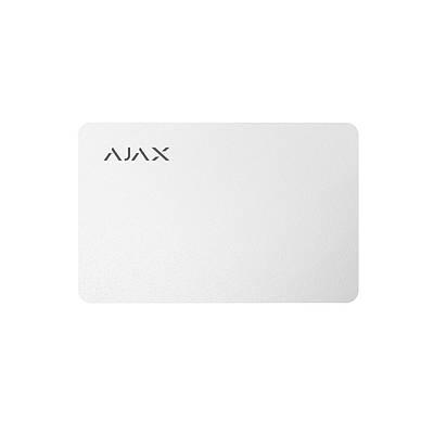 Карта для управления охранной системой Ajax Pass белая 100 шт.