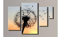Модульная картина Одуванчик 54х75 см (Картины на холсте в подарок на день рождение , постеры, фотокартина)