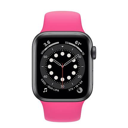 Ремешок силиконовый Sport Band 38mm   40mm Barbie Pink для Apple Watch SE   6   5   4   3   2   1, фото 2