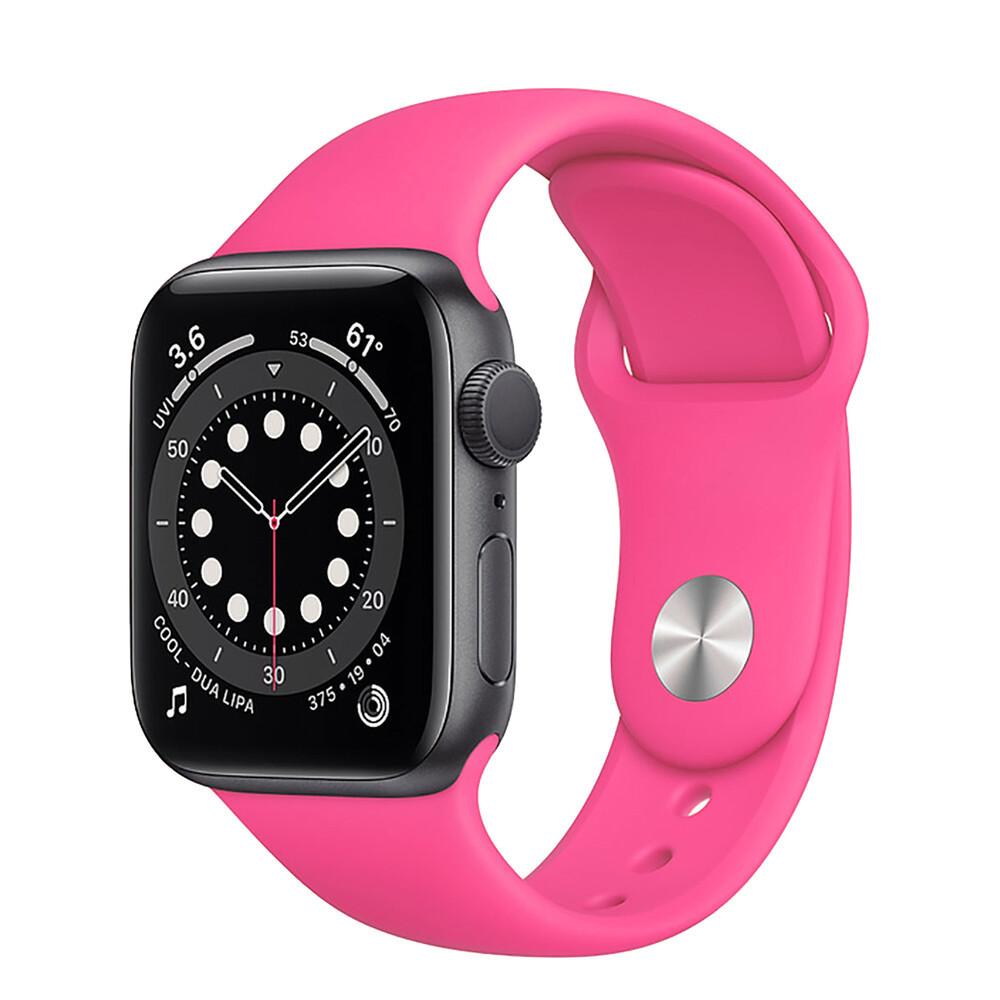 Ремешок силиконовый Sport Band 38mm   40mm Barbie Pink для Apple Watch SE   6   5   4   3   2   1