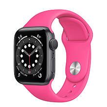 Ремешок силиконовый Sport Band 38mm | 40mm Barbie Pink для Apple Watch SE | 6 | 5 | 4 | 3 | 2 | 1
