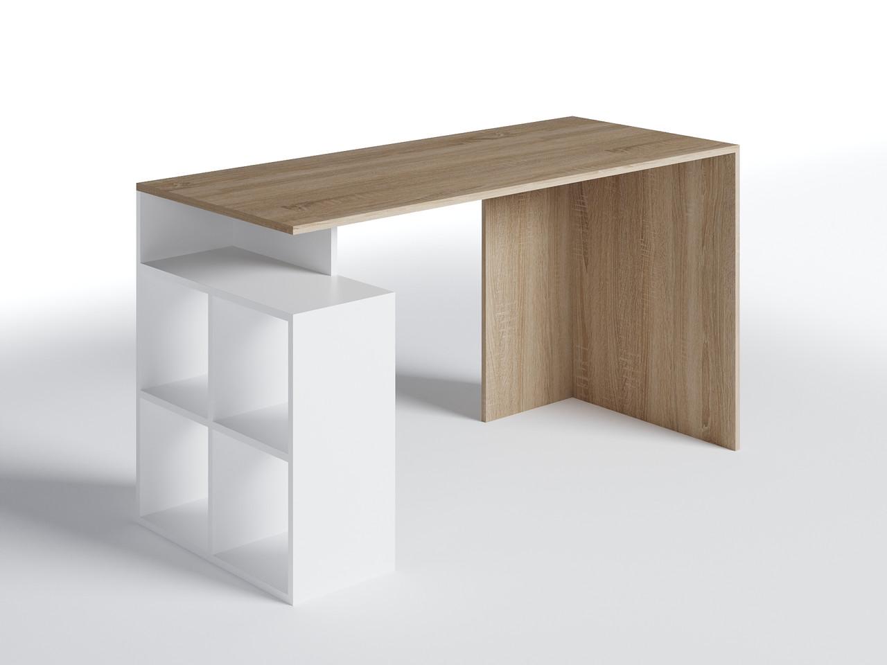 Стол письменный СП-3 Дуб Сонома/Белый