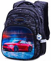 Рюкзак школьный ортопедический для мальчика в 1-4 класс Машина Winner One SkyName R3-236 29х19х38 см