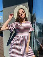 Платье короткое женское свободного кроя в полоску, 00982 (Мокко), Размер 42 (S), фото 4