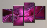 Модульная картина Абстракция-5 56х103 см (Красивые картины на холсте в подарок, постеры, фотокартина, Триптих)