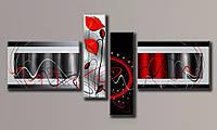 Модульная картина Абстракция стиль-3 105х206 см (Картины на холсте в подарок, постеры, фотокартина, Триптих)