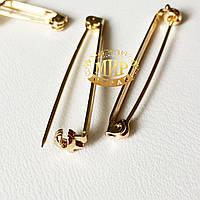 Безопасная булавка для броши 40мм, с закруткой, 1шт  (розовое золото)