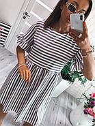 Легкое летнее платье с коротким рукавом, с отрезной талией, 00984 (Серый), Размер 44 (M), фото 3