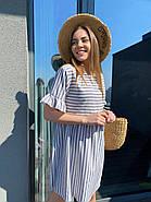 Легкое летнее платье с коротким рукавом, с отрезной талией, 00984 (Серый), Размер 44 (M), фото 4