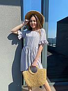 Легкое летнее платье с коротким рукавом, с отрезной талией, 00984 (Серый), Размер 44 (M), фото 5