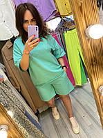 Жіночий костюм з шортами супер батал  82730