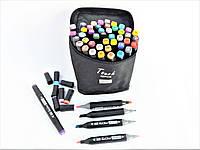 Двусторонние маркеры для скетчинга и рисования Touch на спиртовой основе 48 штук В чемоданчике