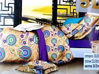 Постельное двуспальное белье сатиновое 5D - турецкий стиль
