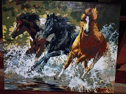 Картина за номерами Трійця лошадей.јрд