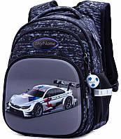 Рюкзак школьный ортопедический для мальчика в 1-4 класс Машина Winner One SkyName R3-235 29х19х38 см