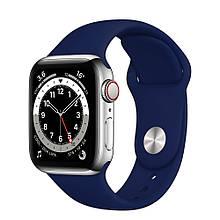 Ремешок силиконовый Sport Band 38mm | 40mm Dark Blue для Apple Watch SE | 6 | 5 | 4 | 3 | 2 | 1